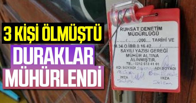 Esenyurt'ta taksici cinayetlerinden sonra 4 taksi durağına mühür