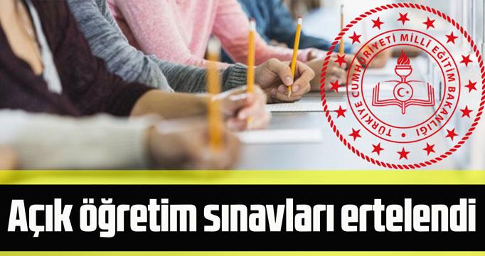 Sınavlar ertelendi!