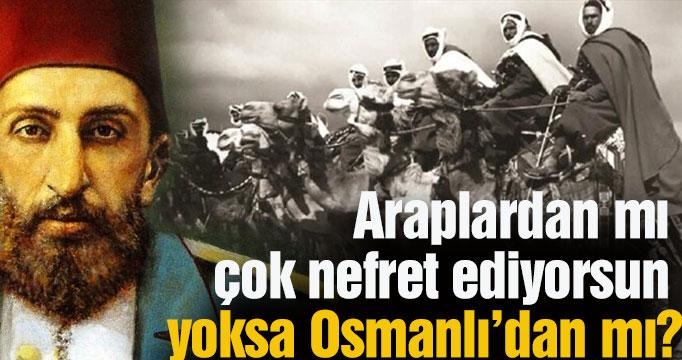 Araplardan mı çok nefret ediyorsun yoksa Osmanlı'dan mı?