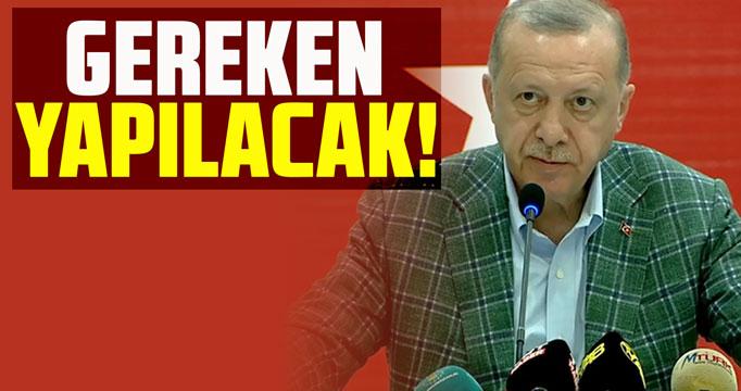 Cumhurbaşkanı Erdoğan Marmaris'te konuştu