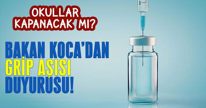 Bakan Koca'dan 'grip aşısı' duyurusu!