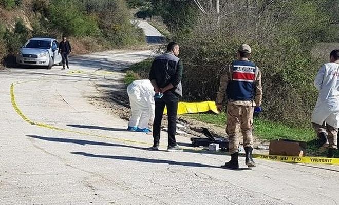 Döverek öldürüp mezarlık yakınında yol kenarına attılar