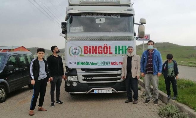Bingöl'den Suriye'ye 33'üncü insani yardım tırı gönderildi