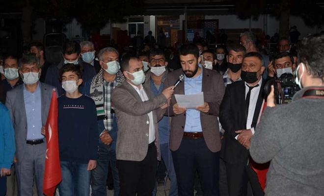 Malatya'dan siyonist işgal rejimine lanet yağdı