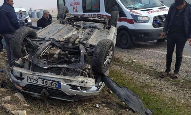 Direksiyon hâkimiyetini kaybeden sürücü aracıyla takla attı