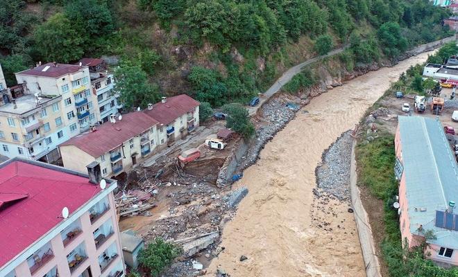 Giresun'daki sel felaketinde ölenlerin sayısı 8'e yükseldi