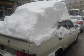 Bitlis`e bu kadar kar yağdı
