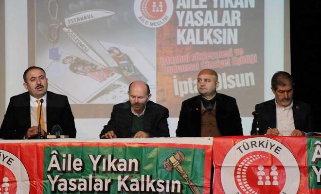 """Türkiye Aile Meclisi """"Aileyi Yıkan Sorunların Çözümleri"""" başlığıyla bir panel düzenledi"""