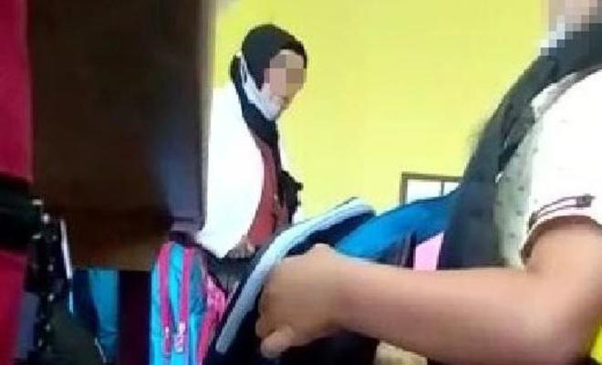 Öğrencisini azarlamıştı, soruşturma başlatıldı!