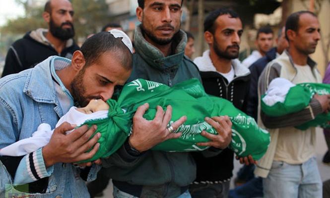 Filistinli şehit çocuk toprağa verildi