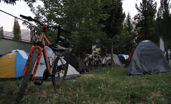 Bisiklet festivaline katılan sporcular Şırnak'ın doğa güzelliğine hayran kaldı