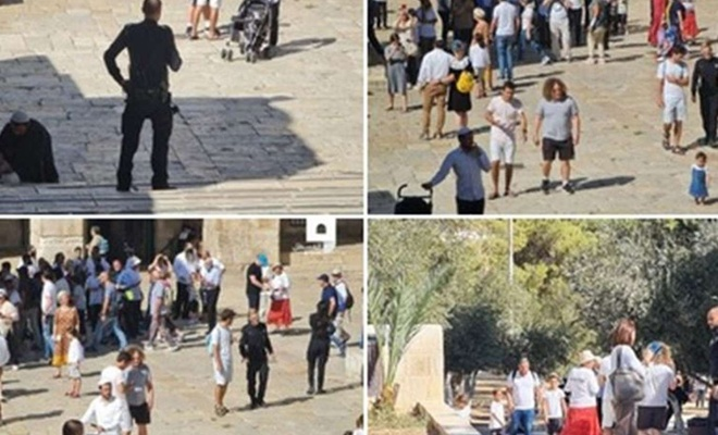 Palestine: More than 1,000 zionist settlers defile Aqsa Mosque under police guard