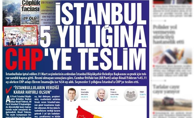 İstanbul beş yıllığına CHP'ye teslim