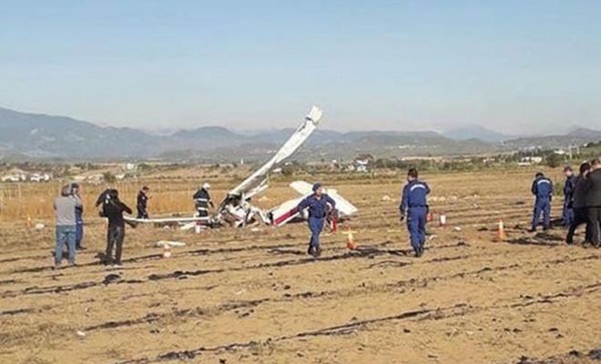 Antalya`da uçak düştü: 2 ölü
