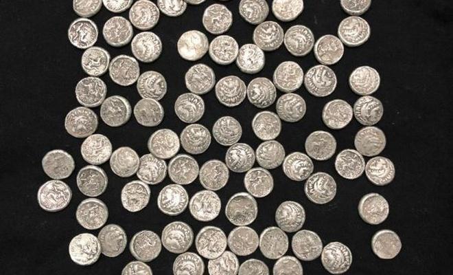 Helenistik döneme ait gümüş sikke ele geçirildi