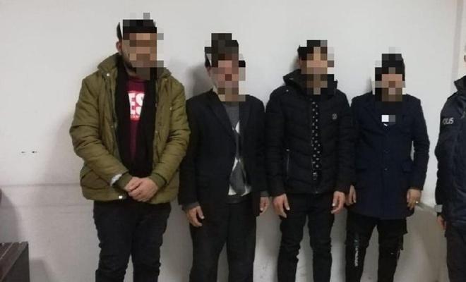 Gaziantep'te 4 düzensiz göçmen yakalandı
