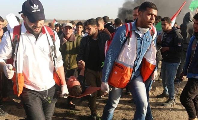 Cuma günü Büyük Dönüş Yürüyüşünde yaralanan Filistinli şehit oldu