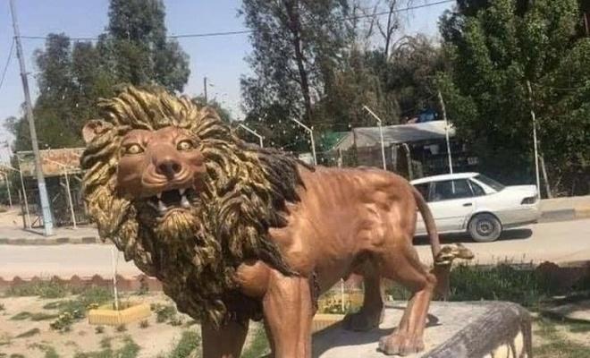 Iraklılar 65 bin dolara yapılan heykele tepki gösterdi