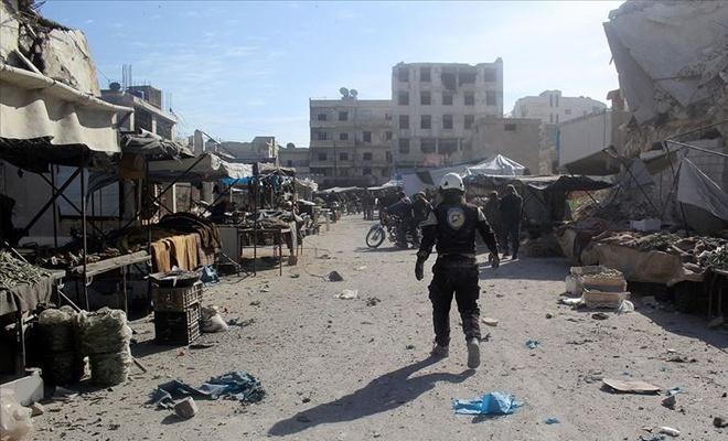 Baas rejimi pazara saldırdı: 4 ölü,40'dan fazla yaralı