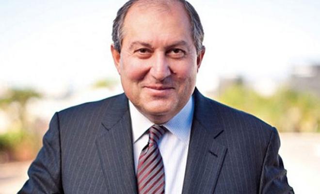 Ermenistan`ın yeni cumhurbaşkanı Armen Sarkisyan oldu