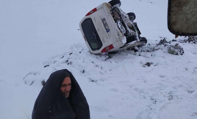 Karda kaza yapanların yardımına Bağlar Belediyesi ekipleri ulaştı