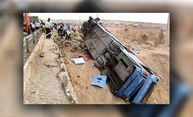 İran'da otobüs devrildi: Çok sayıda ölü ve yaralı var