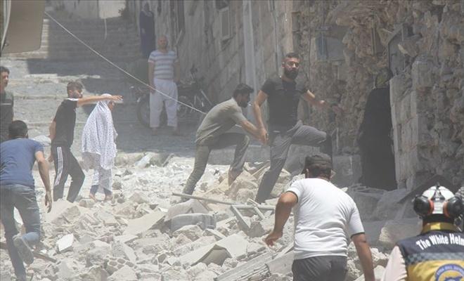 BAAS Rejimi İdlib'i  vurdu: 8 sivil ölü, 35 sivil yaralı