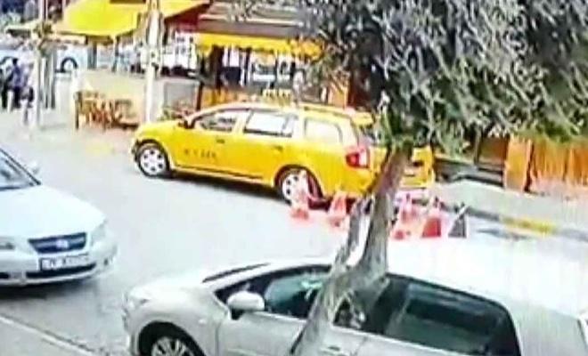 Kadın müşteri taksiyi kaçırdı