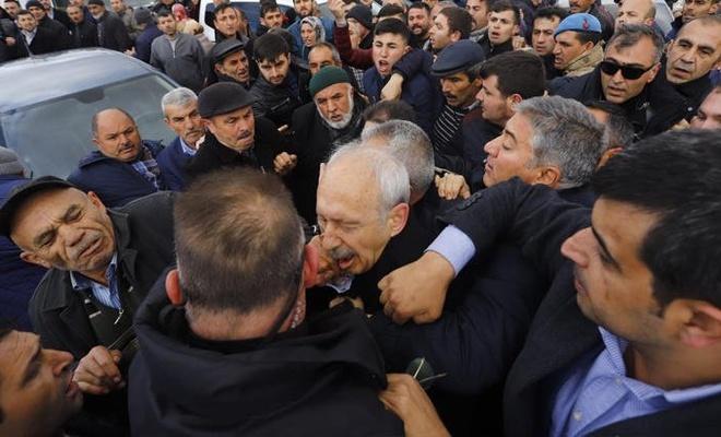 CHP lideri Kemal Kılıçdaroğlu'na saldırı!