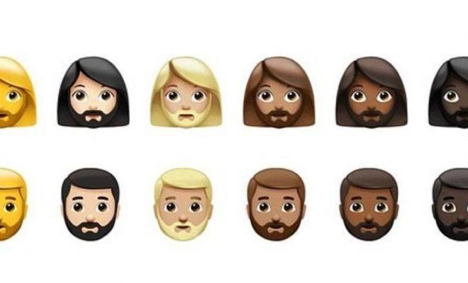 Apple'ın sakallı emojiler