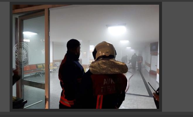 Ankara'da hastane arşivinde yangın