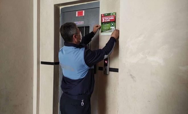 Nusaybin'de afet ve acil durumlarında toplanma alanlarını gösteren tabelalar asıldı