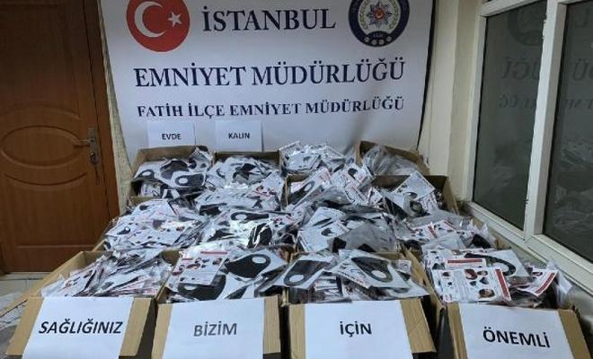 Fatih'te 11 bin adet  maske ele geçirildi