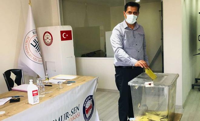 Büro Memur-Sen Gaziantep Şube Başkanı Hanifi Borazan güven tazeledi