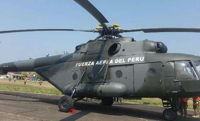 Peru'da askeri helikopter düştü: 5 ölü