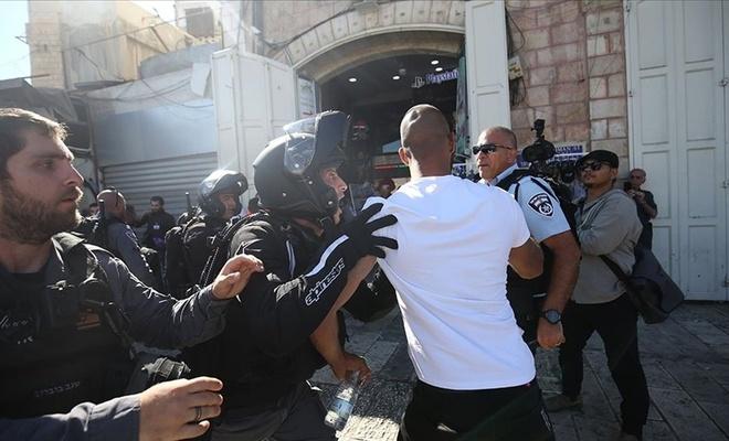 İşgal polisi Filistinlilere saldırdı!