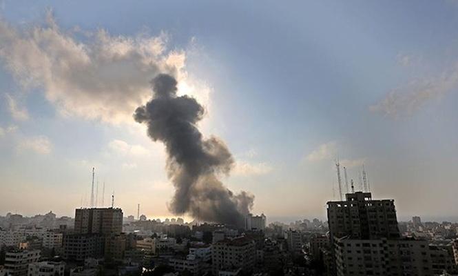 İşgal çetesinden Gazze`ye hava saldırısı