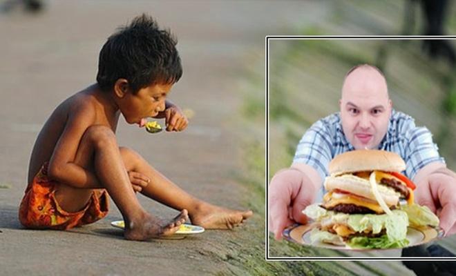 Bir yanda açlık, bir yanda obezite