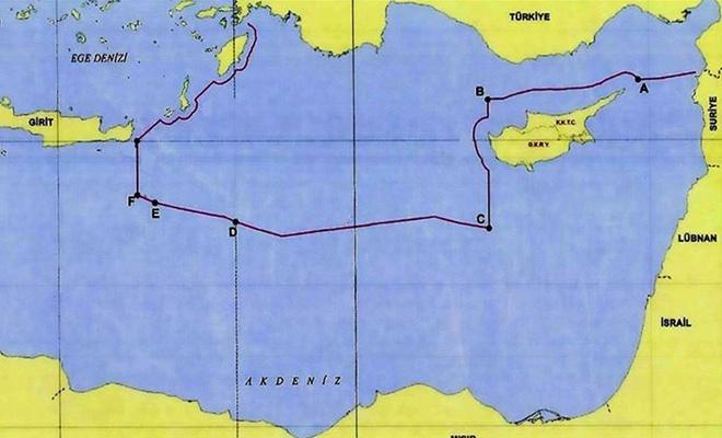 Bakanlık Akdeniz'deki kıta sahanlığı ve MEB sınırlarını paylaştı