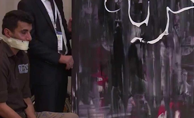 Beytül Makdis forumuna Filistinli ressam damga vurdu