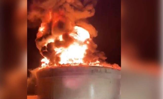 Kassam Tugayları aynı petrol sahasını 2'nci kez füzelerle vurdu