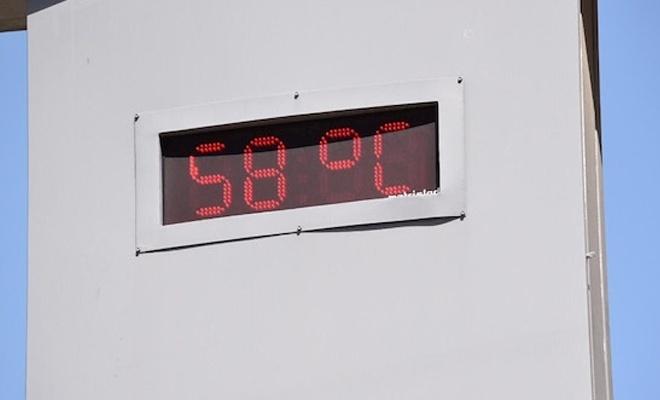 Termometreler 58 dereceyi gösterdi