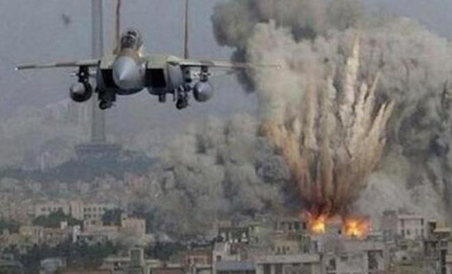 Siyonist çetenin uçakları, bir kez daha Gazze'ye saldırdı