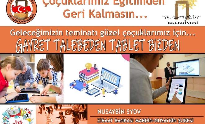 Mardin'de dar gelirli öğrenciler için tablet kampanyası sürüyor