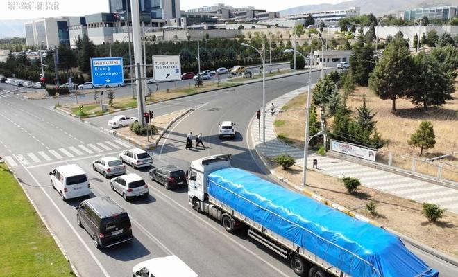Malatya'da drone destekli denetimlerde araç ve sürücülere ceza kesildi