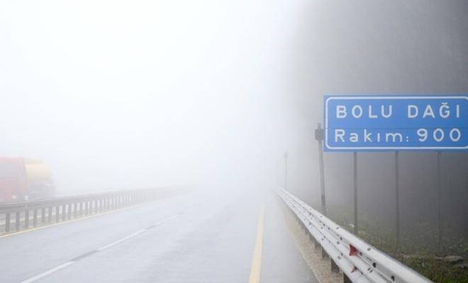 Bolu Dağı`nda yoğun sis