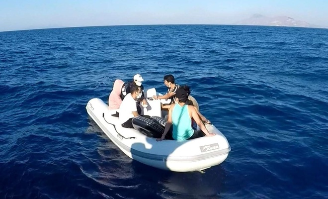 Muğla açıklarında 7 düzensiz göçmen kurtarıldı