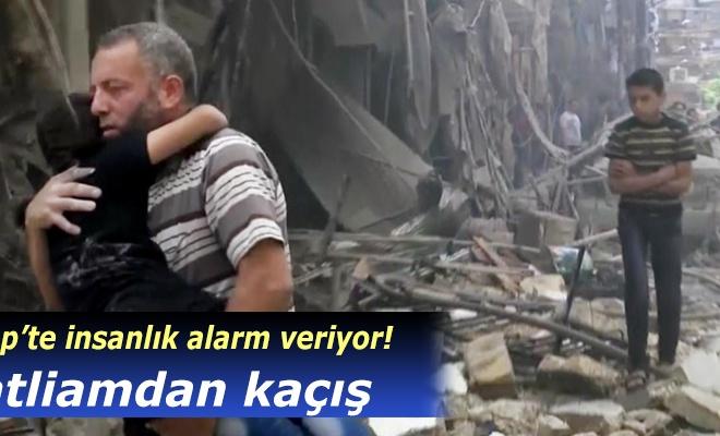 Halep`te insanlar katliamdan kaçıyor!