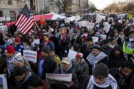 Washington`da Kudüs protestosu düzenlendi