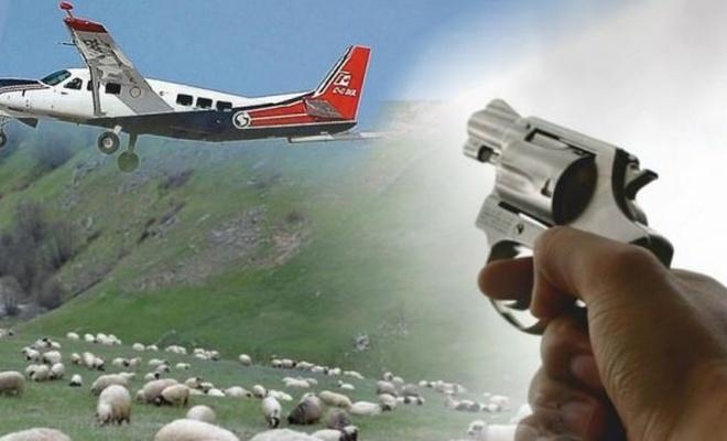 Aksaray'da Çoban Uçağı Vurdu